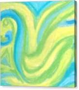Aqua Duck  Canvas Print