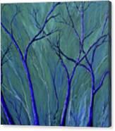 Aqua Forest Canvas Print