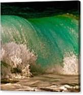 Aqua Green Wave Canvas Print
