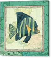 Aqua Maritime Fish Canvas Print