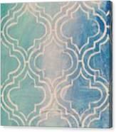Aqua Moroccan Canvas Print