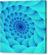 Aqua Pillow Vortex Canvas Print