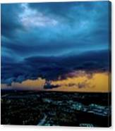 Aqua Skies Canvas Print