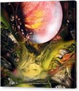 Aqua Valley Canvas Print