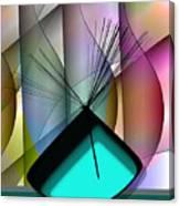 Aqua Vase Canvas Print