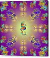 Aquarium Glow Purple Canvas Print