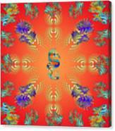 Aquarium Glow Red Canvas Print