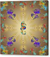 Aquarium Glow Umber Canvas Print