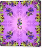 Aquarium Rising Lavender Canvas Print