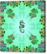 Aquarium Rising Mint Canvas Print