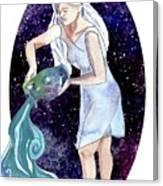 Aquarius Water Bearer Canvas Print