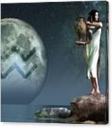 Aquarius Zodiac Symbol Canvas Print