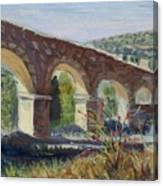 Aqueduct Near Pedraza Canvas Print