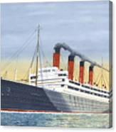 Aquitania-calm Sea And Prosperous Voyage Canvas Print