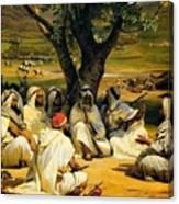 Arab Chieftains In Council  Canvas Print