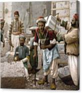 Arab Stonemasons, C1900 - To License For Professional Use Visit Granger.com Canvas Print
