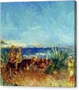 Arabs By The Sea Canvas Print