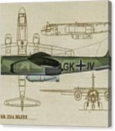 Arado Ar234b-2 - Profile Art Canvas Print