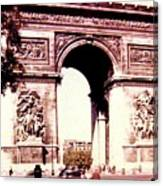Arc De Triomphe 1955 Canvas Print