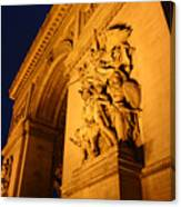 Arc De Triomphe At Night Canvas Print