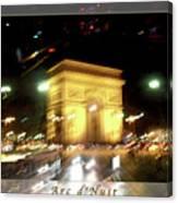 Arc De Triomphe By Bus Tour Greeting Card Poster V2 Canvas Print