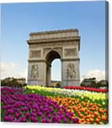Arc De Triomphe In Paris Canvas Print