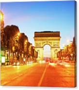 Arc De Triomphe, Paris, France Canvas Print