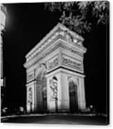 Arc De Triomphe Paris, France  Canvas Print