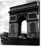 Arc De Triomphe Sunset Paris, France Canvas Print