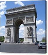 Arc De Triumph In Paris 2 Canvas Print