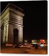 Arc Du Triomphe Paris Canvas Print