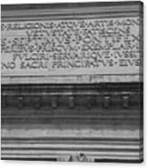 Arc Text Canvas Print