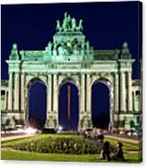 Arcade Du Cinquantenaire At Night - Brussels Canvas Print