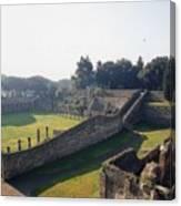 Arcaded Court Of The Gladiators Pompeii Canvas Print