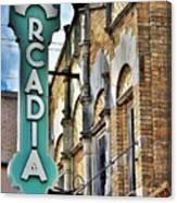 Arcadia Theater Canvas Print
