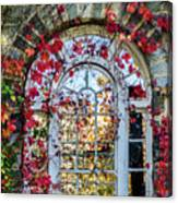 Arch And Red Vines Canvas Print