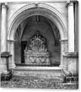 Arch At Fontevraud Abbey Bw Canvas Print