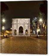 Arch At Night Canvas Print