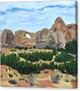 Arch In Landscape Canvas Print