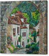 Arch Of Saint-cirq-lapopie Canvas Print