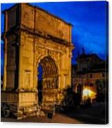 Arch Of Titus In Rome Canvas Print