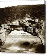 Arch Rock, Santa Cruz, California Circa 1900 Canvas Print