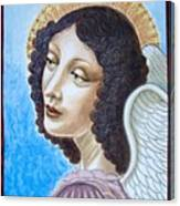 Archangel Contemplating The Holy Child Canvas Print