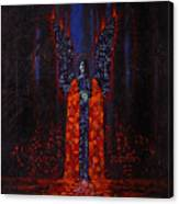 Archangel Evokes Through Nights Womb Canvas Print