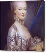Archduchess Maria Antonia Of Austria 1769 Canvas Print