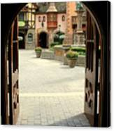 Arched Doorway With A Bavarian View Canvas Print