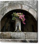 Arched Fountain Canvas Print
