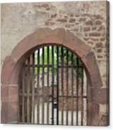 Arched Gate At Heidelberg Castle Canvas Print