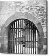 Arched Gate B W Canvas Print