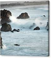 Arched Rock Wave Break Canvas Print